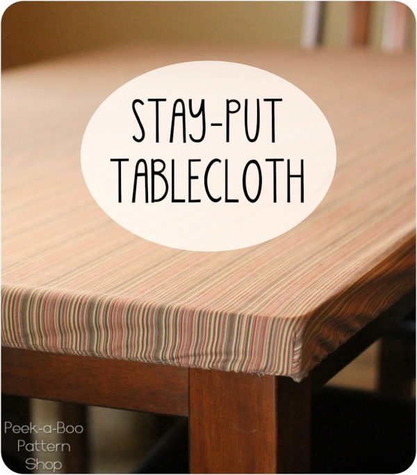Tutorial: Make a tablecloth that stays put