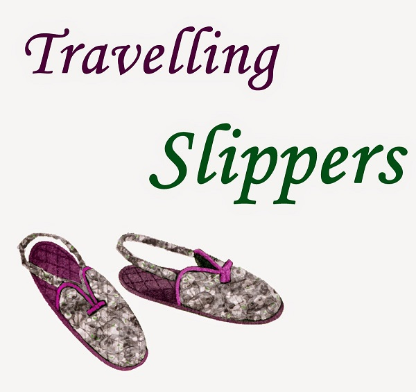 Free pattern: Vintage travel slippers