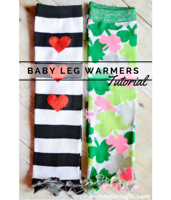 Tutorial: Ruffle hem baby leg warmers from socks