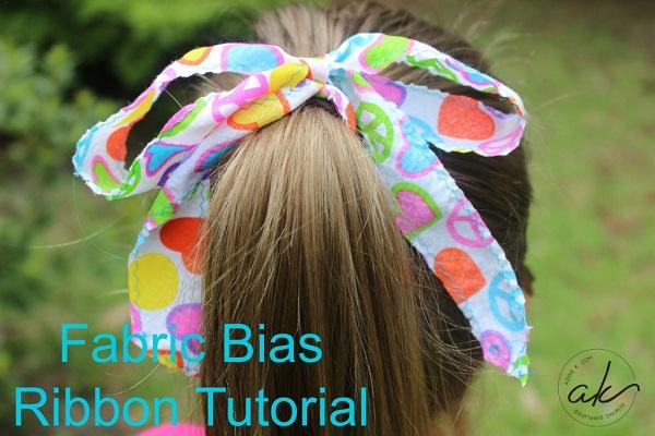 Tutorial: Bias fabric ribbons