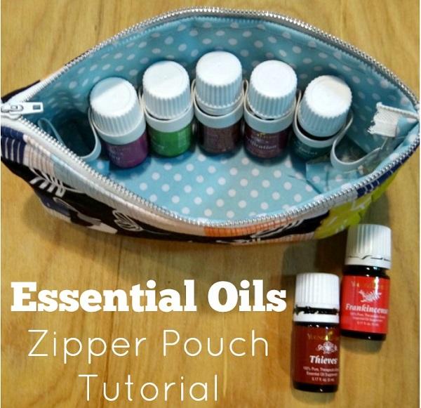 Tutorial: Essential oils zipper pouch
