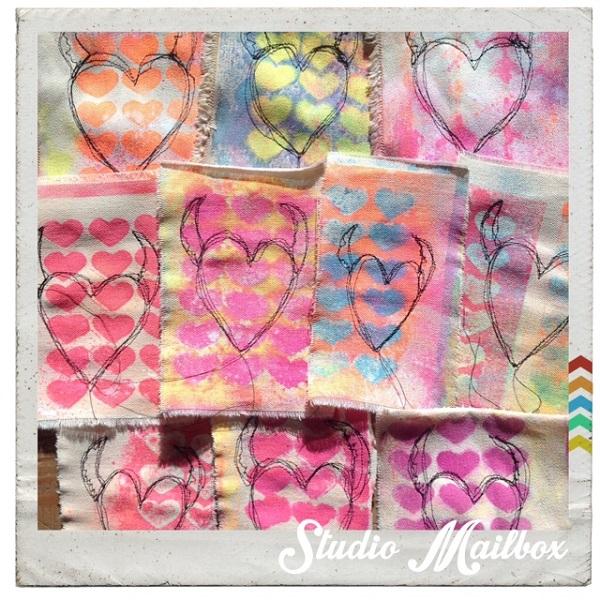 Tutorial: Free motion stitch a Valentine