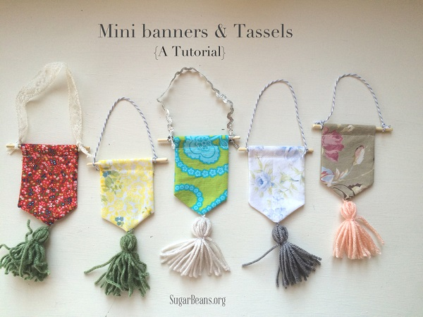 Tutorial: Scrap fabric mini banners