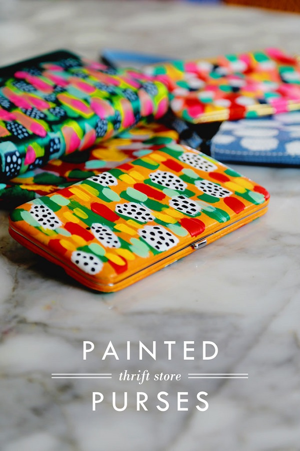Tutorial: Painted thrift store purses