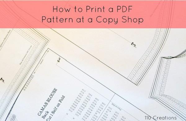 Tutorial: Printing PDF patterns at a copy shop