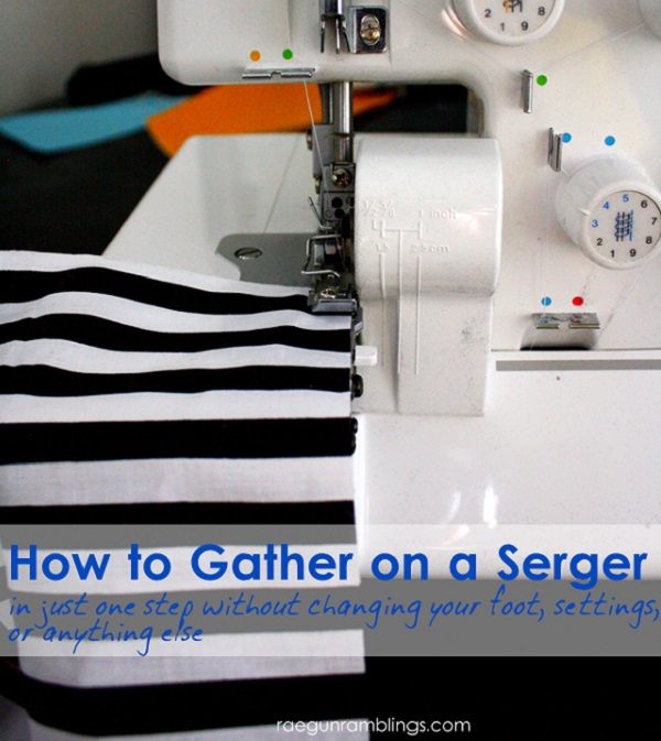 Tutorial: 2 easy ways to gather fabric on your serger