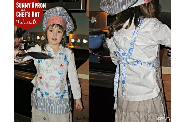 Tutorial: Child's apron and elastic back chef's hat
