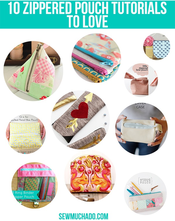 10 ways to make a zippered pouch