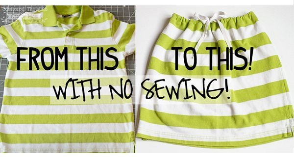 Tutorial: 10-minute girls skirt, no sewing required