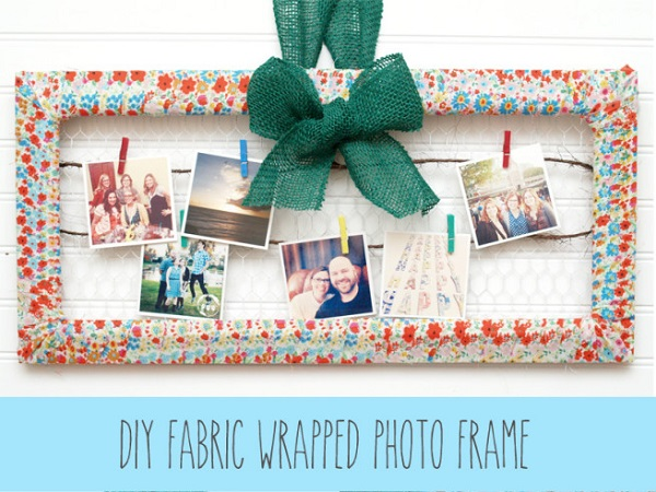 Tutorial: Fabric wrapped photo frame
