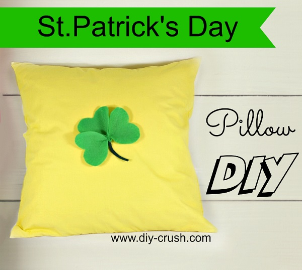 Tutorial: St. Patrick's Day shamrock pillow