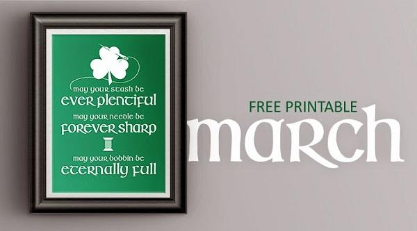 Freebie: Irish sewing blessing printable