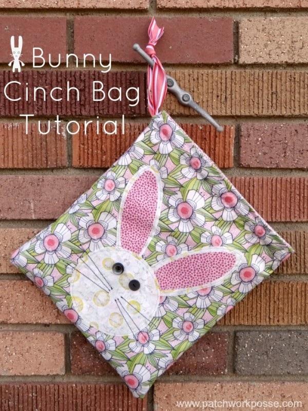 Tutorial: Easter Bunny Cinch Bag