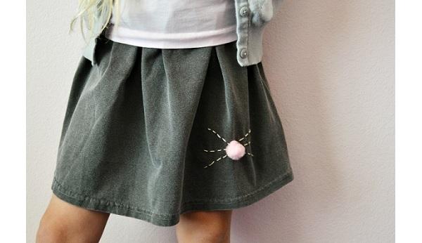 Tutorial: Bunny nose t-shirt skirt