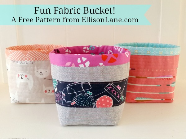 Tutorial: Fabric buckets to organize your home