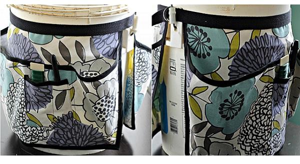 Tutorial Garden Bucket Tool Belt Sewing