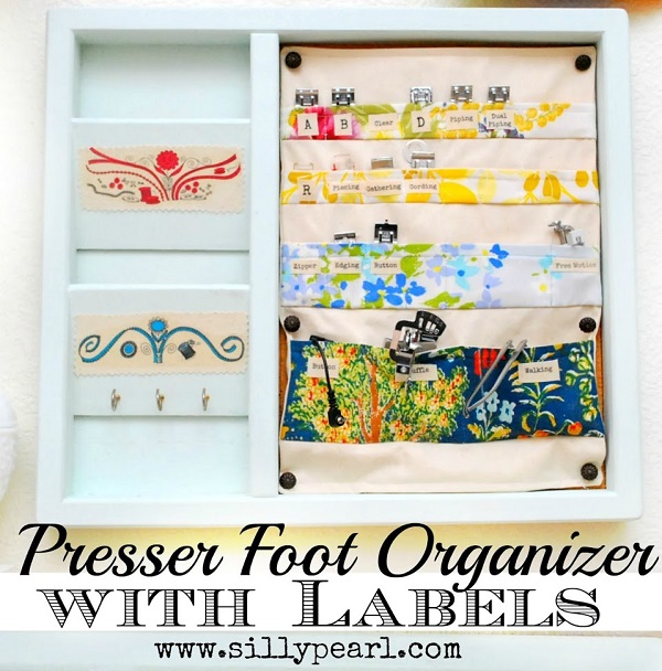 Tutorial: Presser foot organizer with labeled pockets
