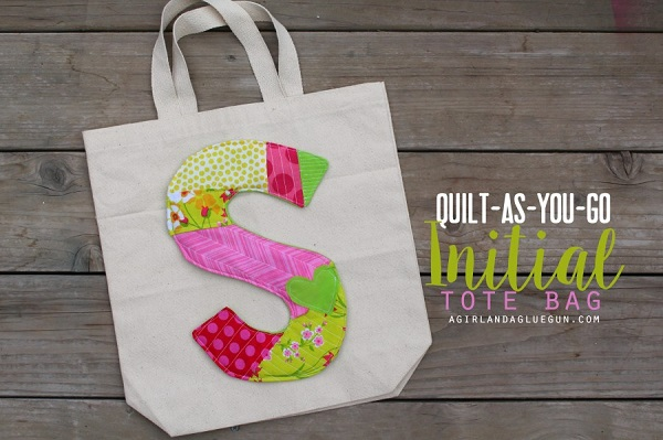 Tutorial: Oversized scrappy quilted monogram