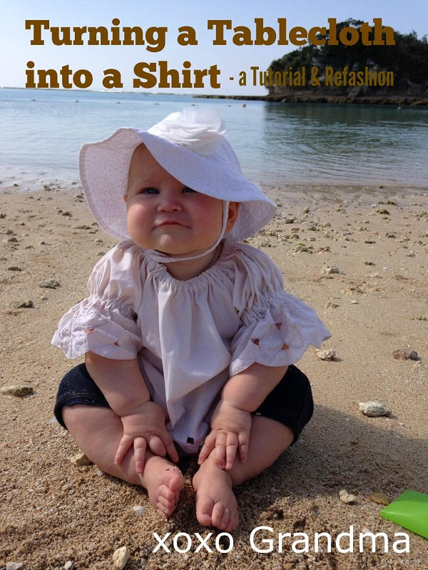 Tutorial: Baby's top from a tablecloth