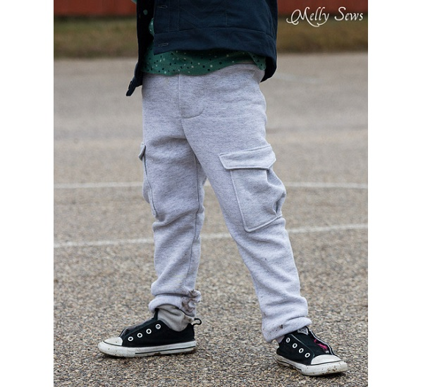 Free Pattern Boys Slim Fit Sweat Pants Sewing