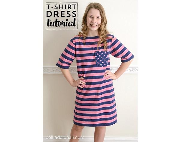 Tutorial: Make a simple t-shirt dress
