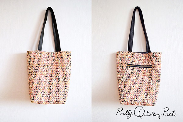 Tutorial: Tote with an outside zippered pocket