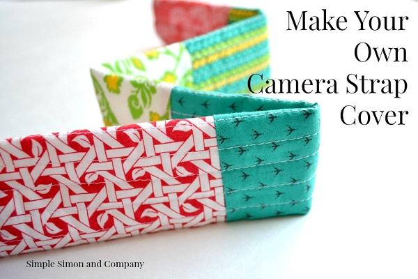 Tutorial: Pretty patchwork camera strap cover