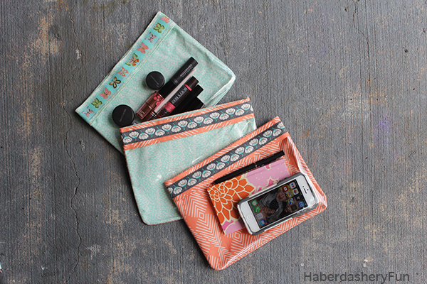 Tutorial Clear Front Zippered Travel Pouches Sewing