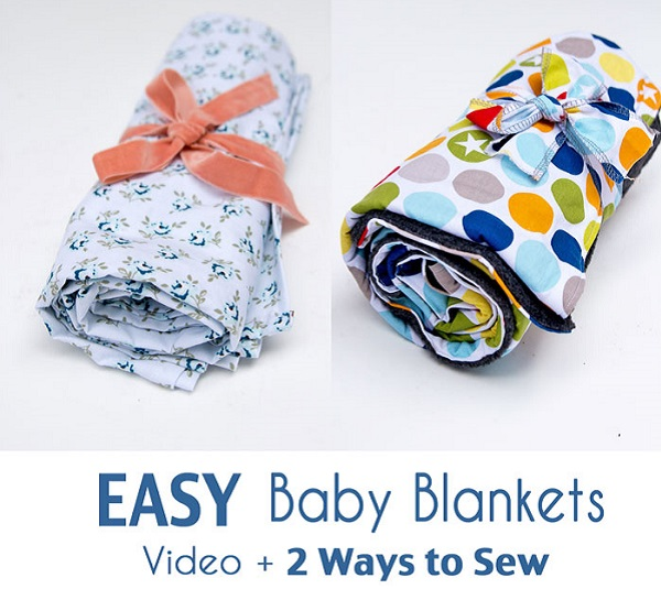 Tutorial: Easy baby blanket, 2 ways