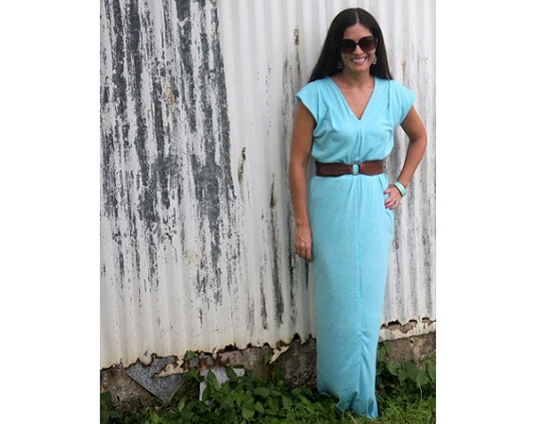 Knit Maxi Dress Pattern : Tutorial: Super easy jersey knit maxi dress   Sewing