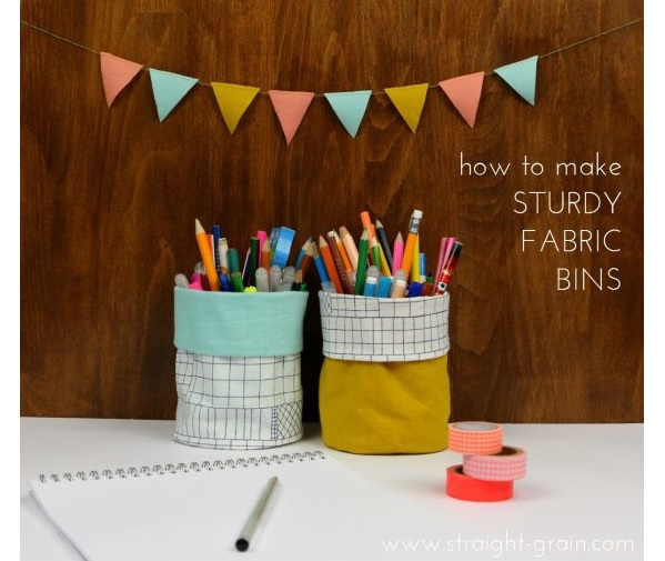 Tutorial: Fabric organizing bins or flower pots