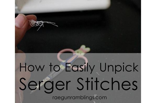 Tutorial: Easy way to unpick a serged seam