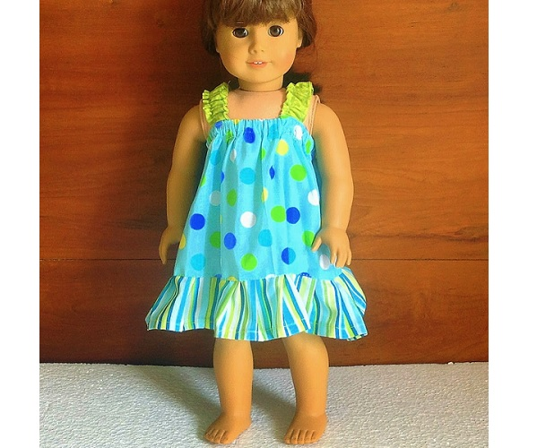 "Tutorial: Sundress for an American Girl or 18"" doll"
