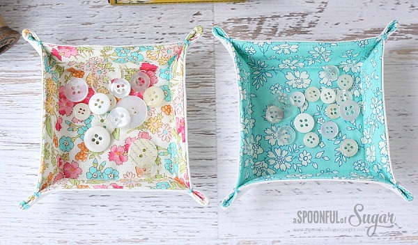 Tutorial Charm Square Or Scrap Fabric Tray Sewing