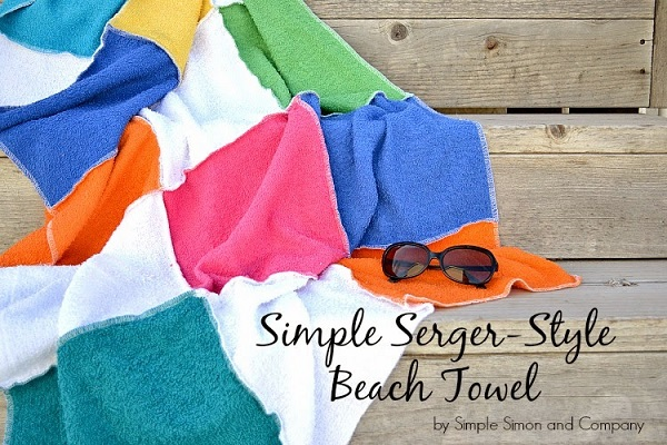 Tutorial: Serged patchwork beach towel