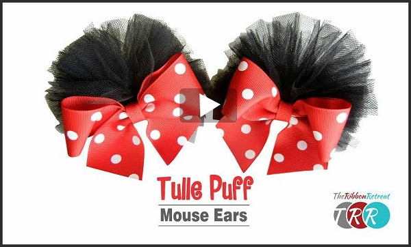 Video tutorial: Mouse ear tulle puff bows