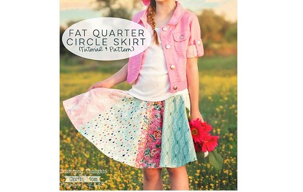 Free pattern: Girls fat quarter circle skirt