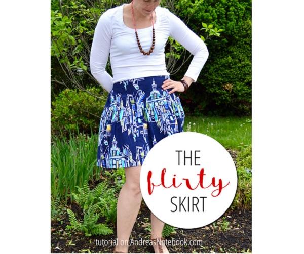 Free pattern: Flirty summer skirt