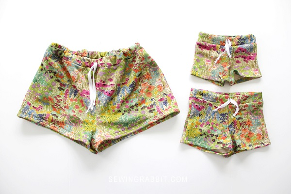 Free pattern: Comfy shorts for mother and daughter