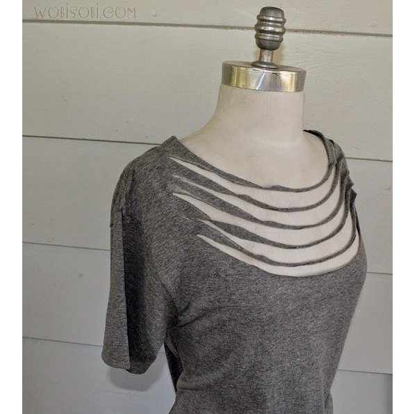 Tutorial: No-sew necklace tee