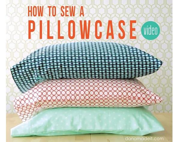 Video tutorial: 2 easy ways to sew a pillowcase