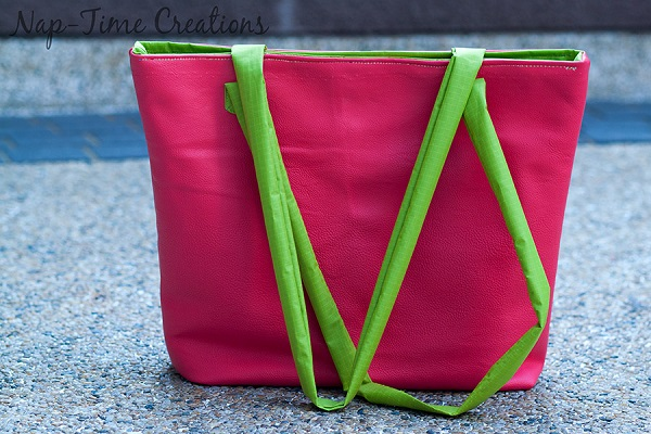 Tutorial: Summer tote from pleather