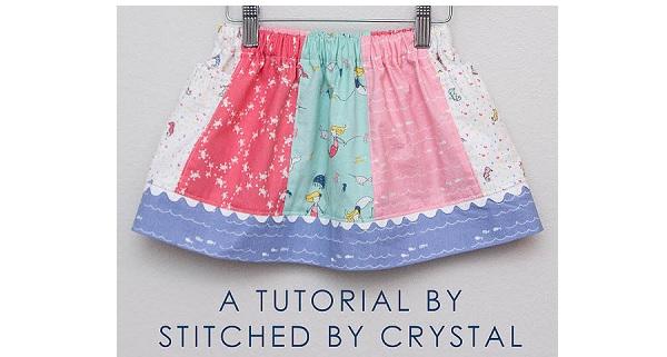 Tutorial: Saltwater Taffy Skirt for little girls