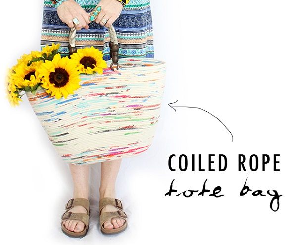 Tutorial: Coiled rope tote