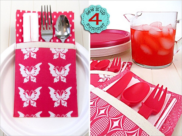 Tutorial: Flatware pockets for outdoor dining and picnics