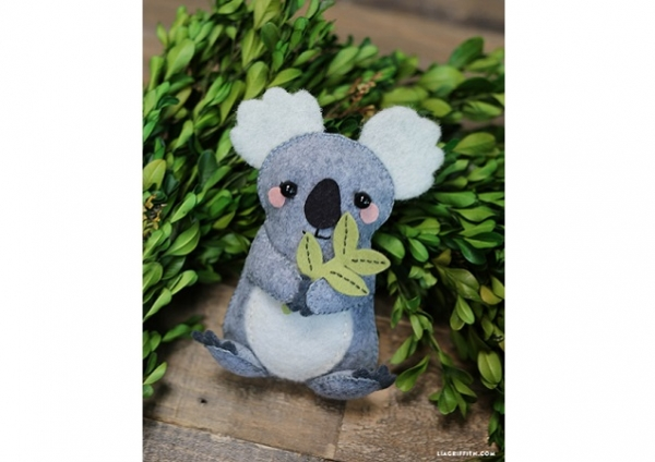 Free pattern: Oh so cute felt koala