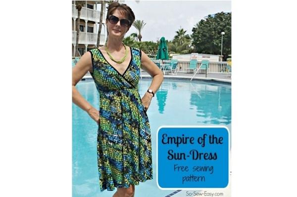 Free pattern: Empire of the Sun criss cross summer dress
