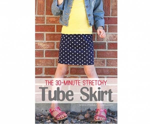 Tutorial: Girls 30-minute stretchy tube skirt