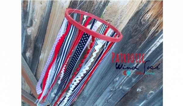 Tutorial: No-sew patriotic wind sock for 4th of July