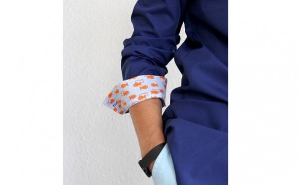 Tutorial: Add contrast cuffs to a shirt